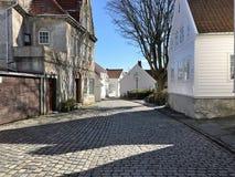 Old Stavanger, Norway. Royalty Free Stock Image