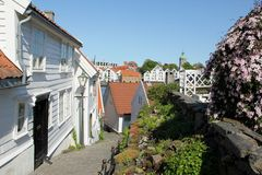 Old Stavanger Royalty Free Stock Photography