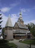 Old stave church totally from wood in germany Stock Photography