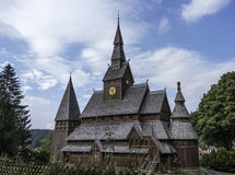 Old stave church totally from wood in germany Royalty Free Stock Photos