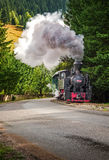 Old steam / coal  train.Mocanita touristic train  in Europe - Rom Royalty Free Stock Photos