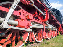 Old steam engine on display in resita romania Royalty Free Stock Photography