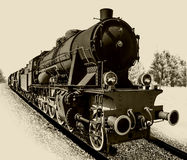 Old steam engine locomotive Royalty Free Stock Images