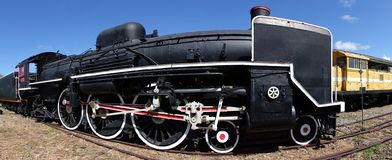 Old Steam Engine Panorama Royalty Free Stock Photos