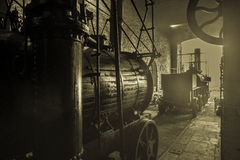 An Old Steam Engine Royalty Free Stock Photos
