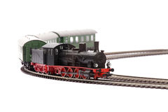 Old steam loco model Stock Photos