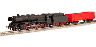 Old steam loco model Royalty Free Stock Photography