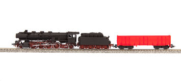 Old steam loco model Stock Photography