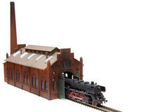 Old steam loco plastic model Royalty Free Stock Photos