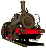 Old steam locomotive. Vectorial image of old steam locomotive isolated on white background Stock Photo