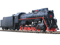 The old steam locomotive. Stock Photos