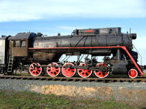 The old steam locomotive. Royalty Free Stock Photography