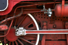 Old steam locomotive. Wheel detail from old locomotive Royalty Free Stock Photo