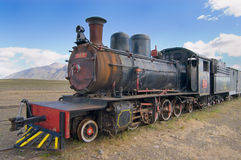 Old Steam Locomotive. Abandoned in Patagonia stock photo