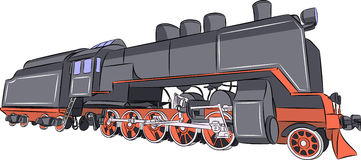 Old steam locomotive. Stock Images