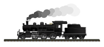 Old steam locomotive Stock Image