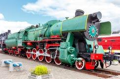 Old steam locomotive. Stock Photos