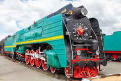 Old steam locomotive. Stock Photo