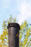 Old steam locomotive Chimney Stock Images