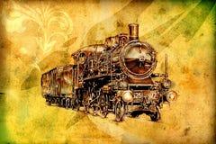Old steam locomotive engine retro vintage Stock Images