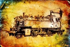 Old steam locomotive engine retro vintage Stock Photos