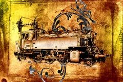 Old steam locomotive engine retro vintage Stock Image