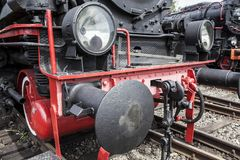 The old steam locomotive Stock Photography
