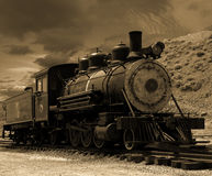 Old Steam Locomotive in Gold Hill, Nevada Royalty Free Stock Image