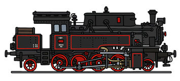 Old steam locomotive. Hand drawing of an old steam locomotive - not areal type Royalty Free Stock Photos