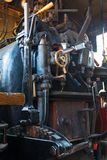 Old steam locomotive interior Royalty Free Stock Photography
