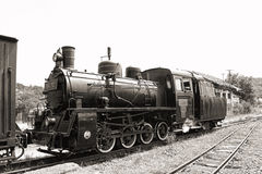 Old steam locomotive. 764.052, made in 1924 at Chrzanow, Polonia, depart from Sovata station on the narrow gauge railway Sovata - Campul Cetatii. Mocanita royalty free stock photos