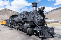 Old Steam Locomotive. In the mountains of colorado royalty free stock photo