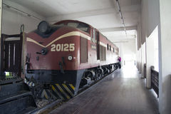 Old steam locomotive. At Museum, Shah Alam Malaysia Stock Image