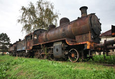Old steam locomotive in Nis. Serbia Stock Image