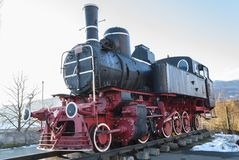 Old steam locomotive royalty free stock image