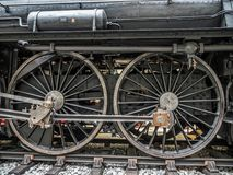 Old steam locomotive. PRAGUE, CZECH REPUBLIC - MARCH 8 2017: Steam locomotive in the National Technical Museum of Prague Royalty Free Stock Image