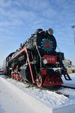 The locomotive on the railroad royalty free stock photos