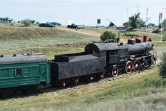 The old steam locomotive Stock Image