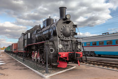 Old steam locomotive in railway mustum Royalty Free Stock Photography