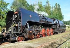Old steam locomotive and railways Stock Photo