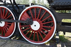 The old steam locomotive Royalty Free Stock Photos