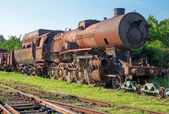 Old steam locomotive in the rust Stock Image