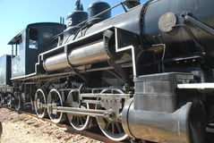 Old Steam Locomotive. This old locomotive sits quietly in Flagstaff Arizona in the town center stock photography