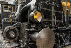 Old steam locomotive in technical museum in Prague, Czech Republ Royalty Free Stock Photography