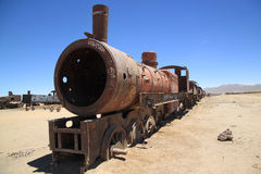 Old Steam Locomotive in Train Cemetery, Bolivia, South America Stock Photography