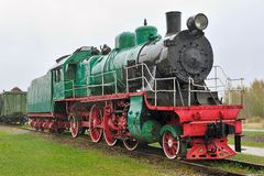 Old steam locomotive. Royalty Free Stock Photos