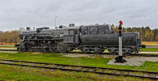 Old steam locomotive. Stock Photos