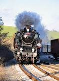 Old steam locomotive. View of old steam locomotive Stock Image