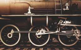 Old steam locomotive wheel Royalty Free Stock Photography