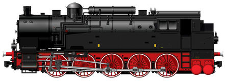 The old steam locomotive Royalty Free Stock Photo